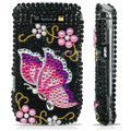 Black Crystal Diamond Bling Case For Blackberry 8900