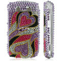 Pink Heart Crystal Diamond Bling Case For Blackberry 8900