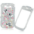 White Heart Rhinestone Diamond Bling Case For Blackberry 8900
