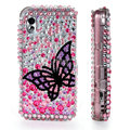 100% Brand New Black Butterfly Bling Hard Plastic Case For Samsung S5230