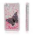 100% Brand New Black Butterfly Crystal Bling Hard Plastic Case For Iphone 4 4G