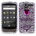 100% Brand New Hapyy Day Crystal Bling Hard Plastic Case For HTC Nexus One