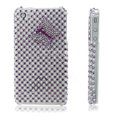 100% Brand New Purple Butterfly Rhinestone Bling Hard Plastic Case For Apple iphone 4G
