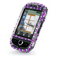 100% Brand New Purple Zebra Bling Hard Plastic Case For Samsung S3650