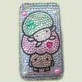 100% Brand New Crystal Cartoon Rhinestone Bling Hard Plastic Case For Apple iphone 3G 3Gs