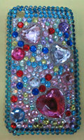 Brand New Bling Crystal Diamond Rhinestone Plastic Hard Cover Case For Apple iphone 3G 3Gs
