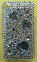 Brand New Clear Bling Diamond Rhinestone Plastic Case For Apple iphone 3G 3Gs