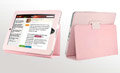iPad Case Genuine leather No lines Hand-built - Pink