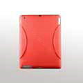 iPad 2 / The New iPad case Crescent Silicone Case Seismic drop resistance - Red