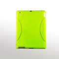 iPad 2 / The New iPad case Crescent Silicone Case Seismic drop resistance - Yellow-green