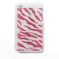 zebra iphone 3G case pearl crystal cover - pink
