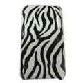 zebra iphone 3G case smooth cover - black