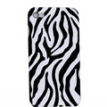 zebra iphone 4G case ceramics smooth cover - black