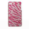 zebra iphone 4G case crystal bling cover - EB007