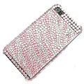zebra iphone 3G case crystal bling cover - pink