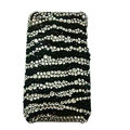 Zebra iphone 4G case bling crystal  fringe cover
