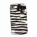 Zebra iphone 4G case crystal bling cover Bow - black