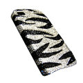 Zebra iphone 4G case crystal fringe bling cover