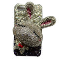 Rabbit bling Crystal case for iphone 4G