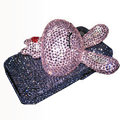 Rabbit Crystal bling case for iphone 3G - pink