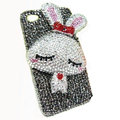 Rabbit Crystal bling case for iphone 3G - white EB002