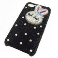 Rabbit Crystal bling case for iphone 3G - white EB007