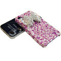 S-warovski crystal bling Butterfly case for iphone 4 - pink
