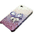 S-warovski crystal bling Flowers case for iphone 4