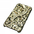 Bling S-warovski Crystal Gecko Case for iphone 4 - black