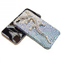 Bling S-warovski Crystal Gecko Case for iphone 4 - bule