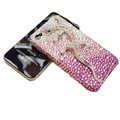 Bling S-warovski Crystal Gecko Case for iphone 4 - pink