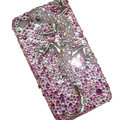 Bling S-warovski Crystal Lizard Case for iphone 4 - pink