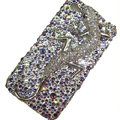Bling S-warovski Crystal Lizard Case for iphone 4 - purple