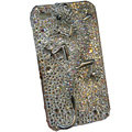 Bling S-warovski crystal Gecko case for iphone 4 - white EB001