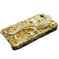 S-warovski Crystal bling Gecko Case for iphone 4 - yellow