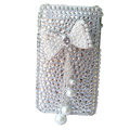 Butterfly bling crystal case for iphone 3g/3gs - white
