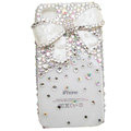 Butterfly bling crystal case for iphone 4 - white