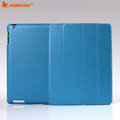 Miraculous magnetic wake smart cover for iPad 2 / The New iPad - PU blue