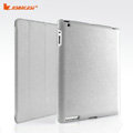 Miraculous magnetic wake smart cover for iPad 2 / The New iPad - PU gray