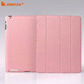 Miraculous magnetic wake smart cover for iPad 2 / The New iPad - PU pink
