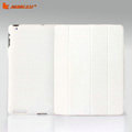 Miraculous magnetic wake smart cover for iPad 2 / The New iPad - PU white