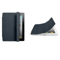 Miraculous magnetic wake smart cover for iPad 2 / The New iPad - dark gray