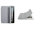 Miraculous magnetic wake smart cover for iPad 2 / The New iPad - gray