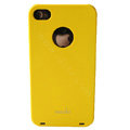 Brand new Ultra-thin scrub case for iphone 4 - yellow