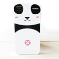 Cartoon Couple Panda Hard Cases Skin Covers for iPhone 4G/4S - pink