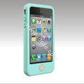 Brand New Smarties silicone case for iphone 4 - blue-green