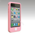 Brand New Smarties silicone case for iphone 4 - pink