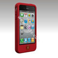 Brand New Smarties silicone case for iphone 4 - red