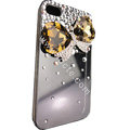 Bowknot S-warovski bling big crystal case for iphone 4G - light yellow