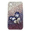 Brand New Bowknot S-warovski bling crystal case for iphone 4G - purple